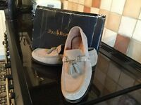 Ralph Lauren men's loafers in a stone colour Brand new in box