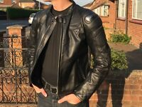 Dainese Leather Motorbike Jacket with armour - size 48 black
