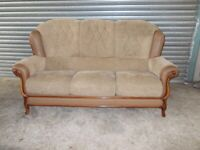 Divani Italian Fabric and Leather 3-seater Sofa (Suite) with matching Armchair