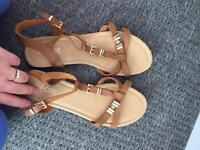 Brand new tan sandals size 6