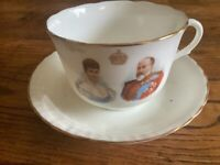 Commemorative China cup and saucer from King George 5th coronation.