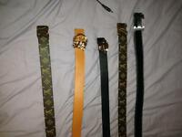 Designer belt joblot