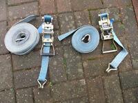 TRAILER HGV LGV RATCHET TIE DOWN STRAPS CARS TIPPER