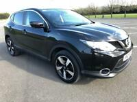 NISSAN QASHQAI 1.5 DCI N-TEC 5d 108 BHP LOW MILEAGE, ZERO ROAD TAX, 55+ MPG (black) 2015