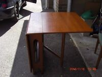 folding dining table, good for storing away to save space £30