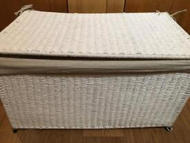 White folding trunk / basket with lid from Zara Home - single or a pair