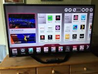 LG 32 INCH SMART LED INTERNET TV WITH FREEVIEW HD BUILT IN.