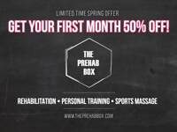 Personal training 50% OFF