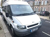 03 PLATE FORD TRANSIT 2.4 DIESEL 17 SEATER MINIBUS TWIN REAR AXLE CLEAN CONDITION NO VAT