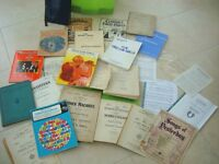 VARIOUS ITEMS INCLUDING LIBRETTOS, VOCAL SCORES AND INDIVIDUAL SHEET MUSIC