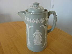 Vintage Dudson Brothers Jasper Wear Tea Pot Green & White