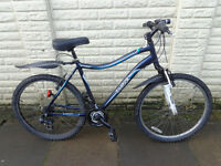 mens reebok front suspension aluminium bike, new mudguards, lights, ready to ride FREE DELIVERY