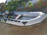 Zodiac Classic 3.5M Rib Boat Dinghy with Mariner 15hp Outboard