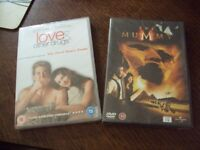 2 dvd fims ,new and sealed ,the mummy and love & other drugs comedy