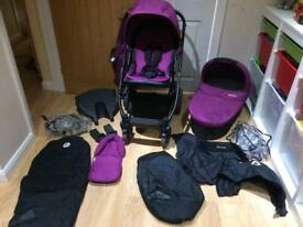 Babystyle Oyster Stroller & Carry cot with Extras