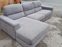 Stunning 1 month old grey fabric corner sofa. used for few days.clean and tidy. can deliver