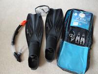 Hot Tuna - Snorkel Mask and Flippers - Diving Set - Scuba