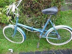 Vintage Halfords folding bike