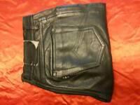 "Vintage leathers 30"" leg 34"" good quality silk lined"