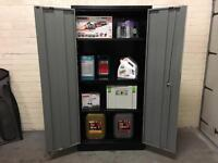 Metal Garage Cabinet Tool Store Lockable Steel Safe Cupboard Storage