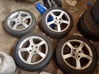 Alloy wheels 4x100 vw/bmw