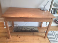 John Lewis Solid Wood Desk With 2 Drawers For Storage & Slide Out For Keyboard/Laptop Good Condition
