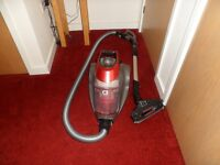 vacuum cleaner with attachments.