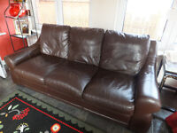 Reids Leather Sofa 3 seater used but in great condition, with no scuffs or tears.