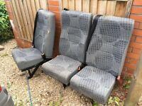 Ford transit crew seats (x3)