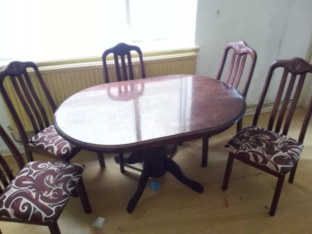 Sensational Table And 6 Chairs 20 00 Port Tennant In Swansea Gumtree Machost Co Dining Chair Design Ideas Machostcouk