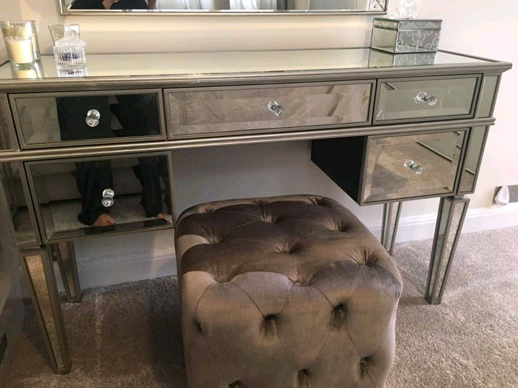 next mirrored furniture. next fleur mirrored dressing table almost new furniture w