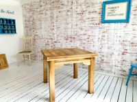 Extending Farmhouse Dining Kitchen Reclaimed Table to Seat Eight People - Contemporary