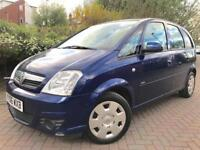 Vauxhall Meriva 1.4 i 16v Club 5dr Full Service History 12 Months Mot Cheap To Insure And Tax