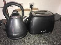 Graphite grey kettle and toaster