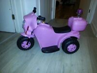 Electric bike trike pink