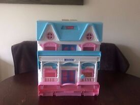 FISHER-PRICE 6364 DOLL HOUSE WITH FURNITURE
