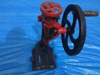 Hand-cranked Vintage Bradson Pillar Drill