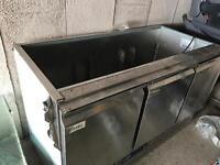 Under counter open display fridge 1370mm