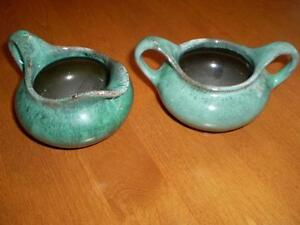 BLUE MOUNTAIN POTTERY CREAM AND SUGAR