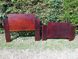 1930s Art Deco single 3ft wooden bed ends