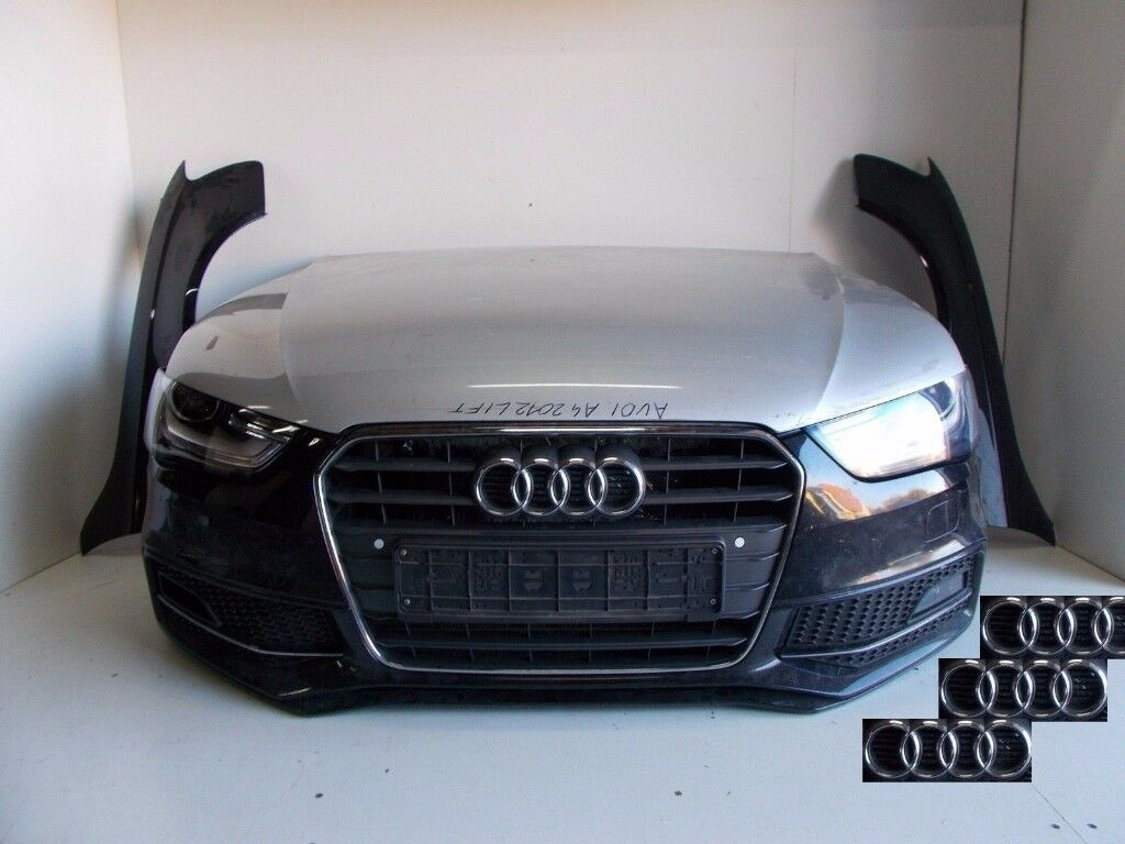 car part front end audi audi a4 s line b8 8k 2012 2015 complete front bumpers bumper bonnet. Black Bedroom Furniture Sets. Home Design Ideas