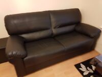 3+2 Faux Black Leather sofa set