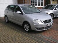 (2007) VW POLO 1.2s MET/SILVER 5 DOOR ( TWO OWNERS 50000 MILES ONLY FSH 10 STAMPS IN SERVICE BOOK )