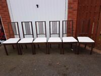 6 Ikea Borje Chairs FREE DELIVERY 406