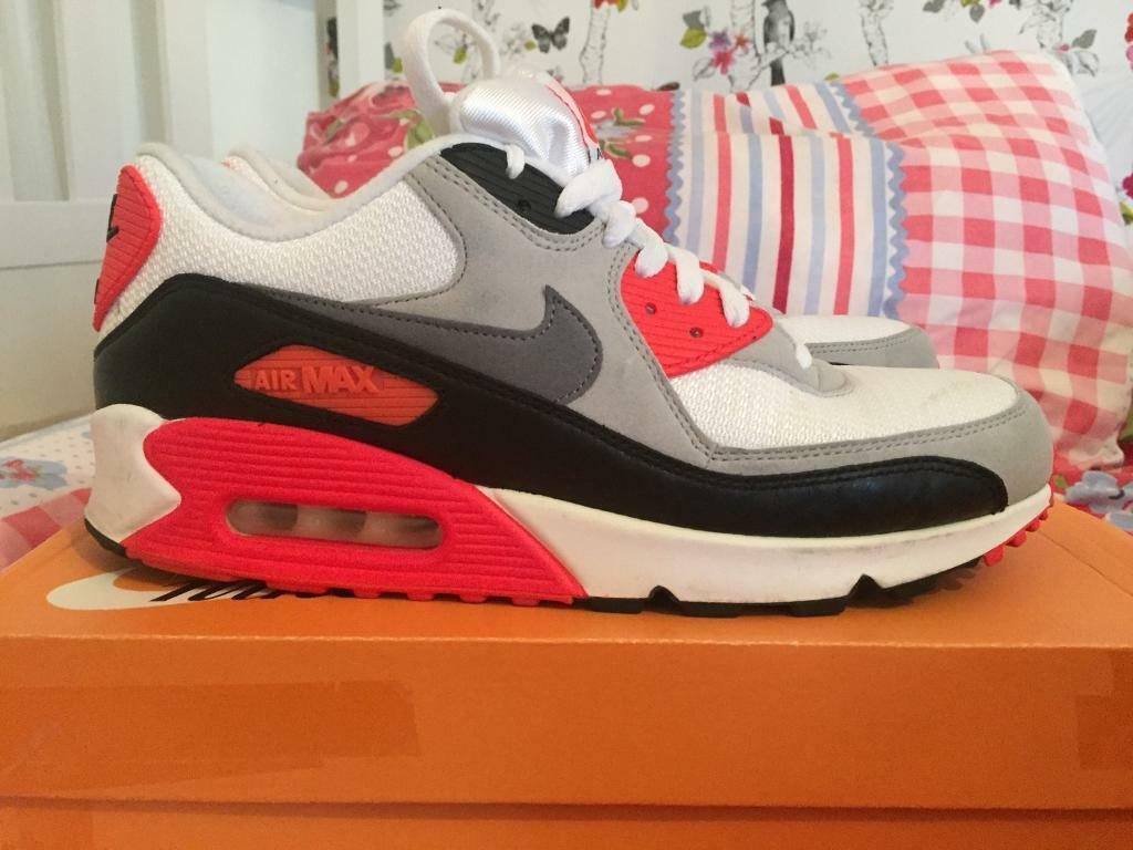 Men s size 9 Nike air max 90 infrared trainers shoes worn 6-7 times  6c7c901ce