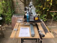 EUMENIA Radial Arm Saw with attachments