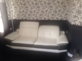 Leather sofa and chair excellent condition was £3000 new