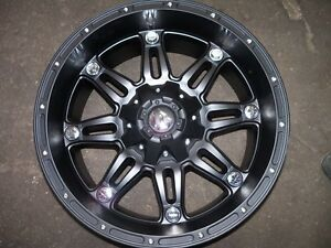 Fuel Offroad Hostage Black 17x9 Chevy Jeep Dodge Ford