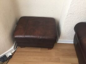 2 seater couch arm chair and storage stool
