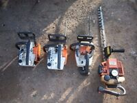 3 Stihl chainsaws + 1 stihl Hedge cutter working/TLC